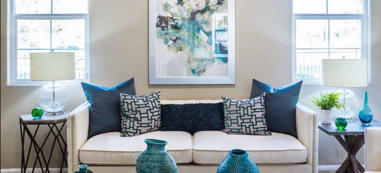 A livingroom- international movers Seattle