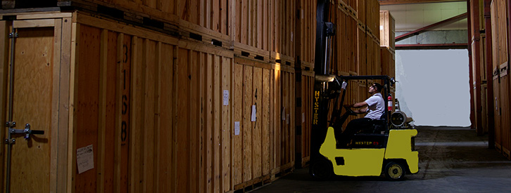 A man working in a self storage Seattle facility.