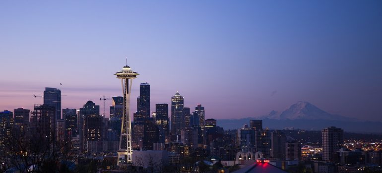 The skyline of Seattle.