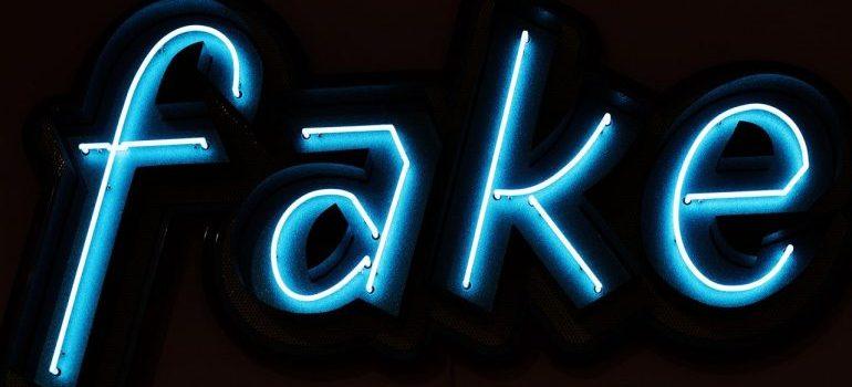 Neon sign Fake