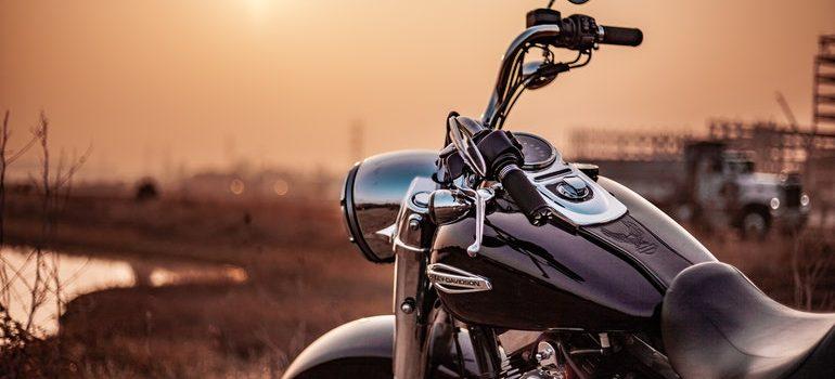 Motorcycle in the desert.