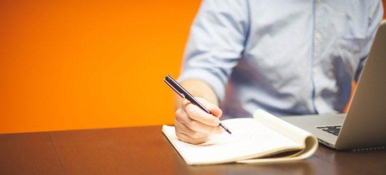 A person making a plan.