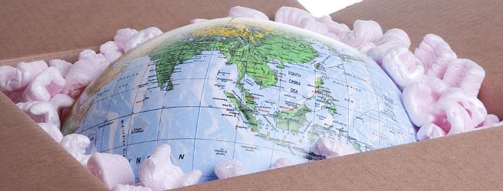 a globe in the box