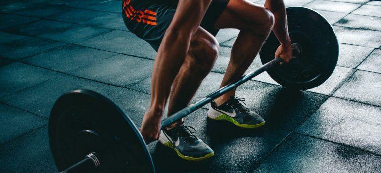 a man lifting