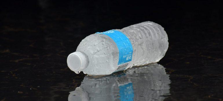 frozen bottle of water