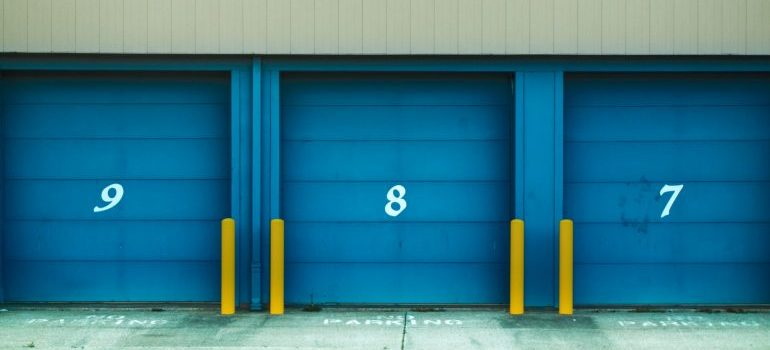 blue storage units for different uses