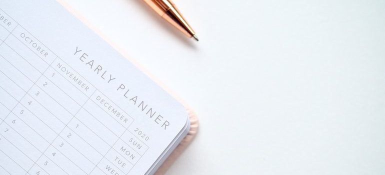 Yearly planner.