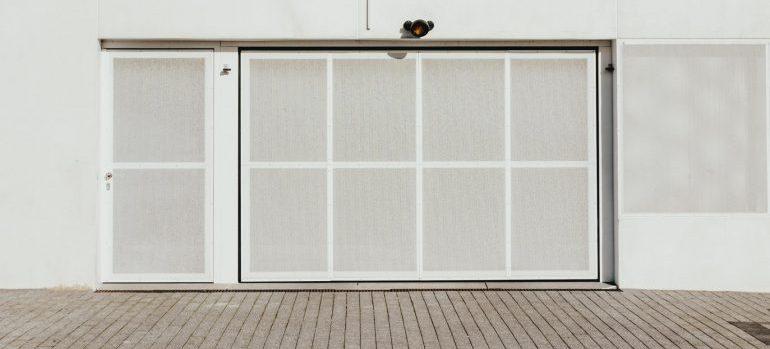 storage unit with a white door