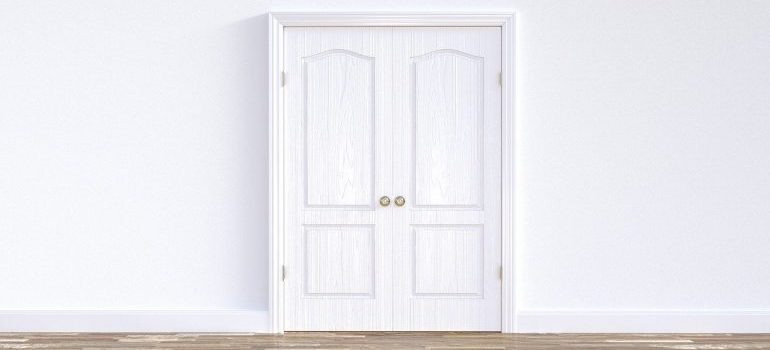 A doorway to measure when trying to prepare your home for movers.
