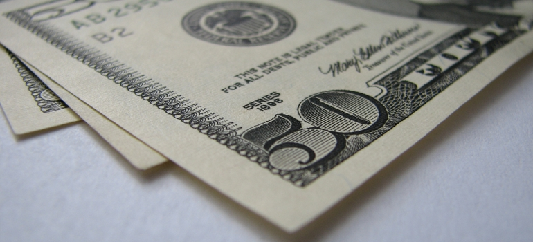 50 dollar bill closeup