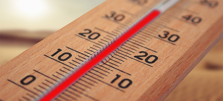 A thermometer