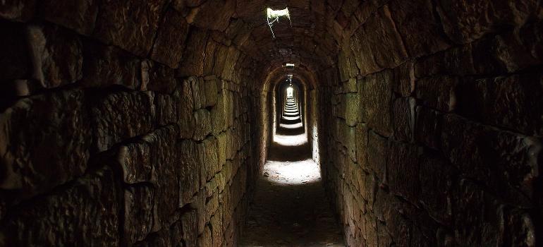 An underground passage