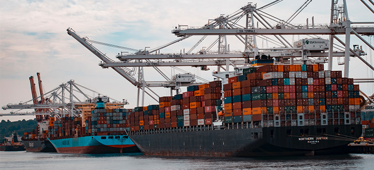 Loaded Cargo ships