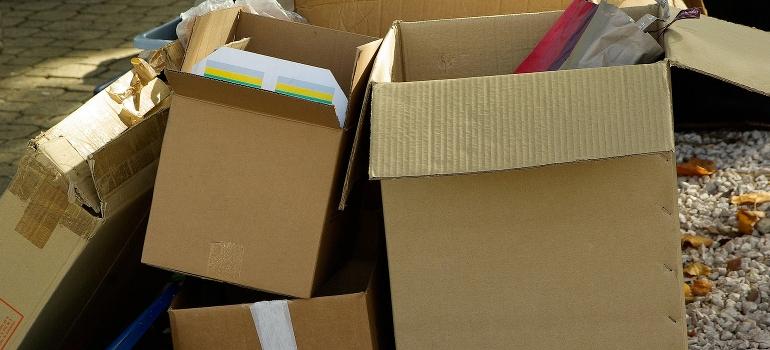 pile of carton boxes