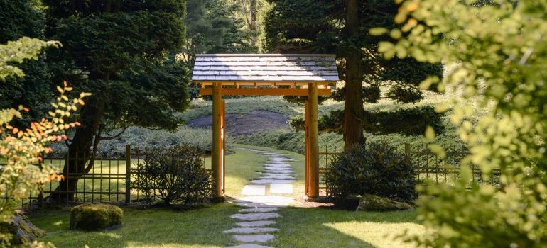 wooden gate in a Bainbridge Island park