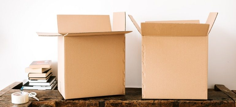 Boxes and tape will help you save money on storage expenses.