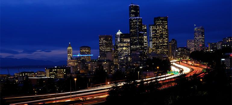 Seattle during nighttime