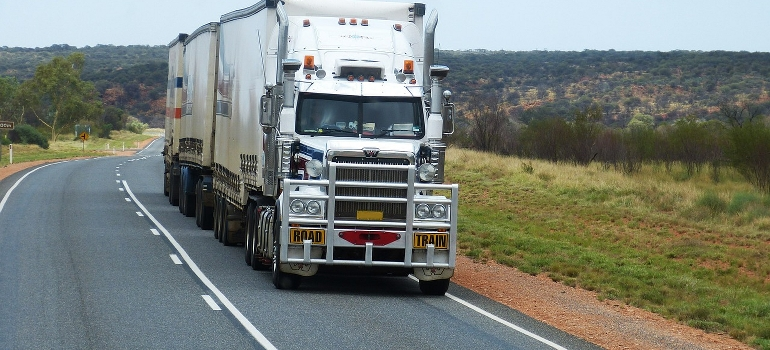 large truck on the road