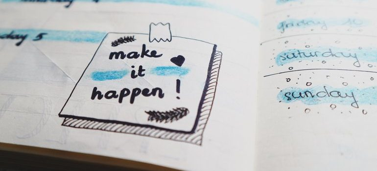 "Planner that says ""make it happen""."
