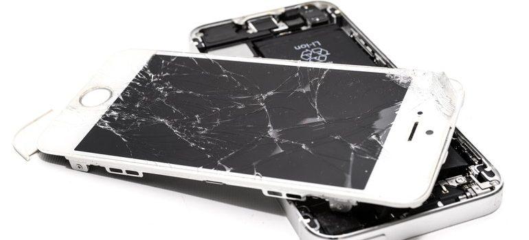 Broken iPhones.