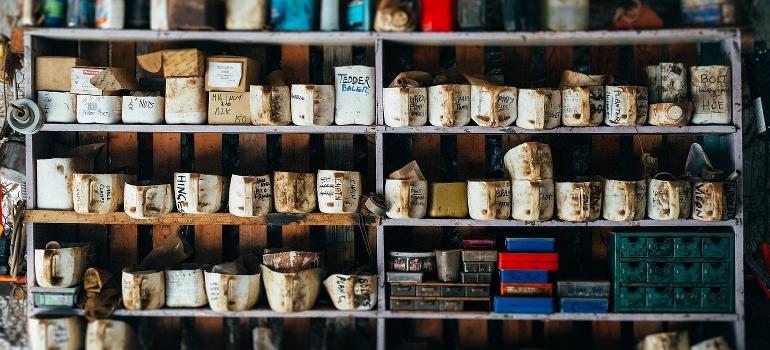 nicely arranged shelves