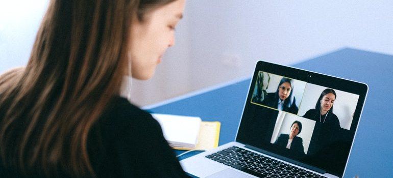 Person video conferencing.