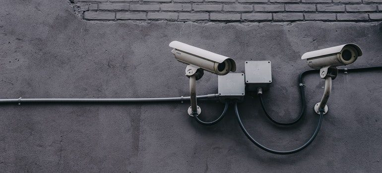Security cameras.