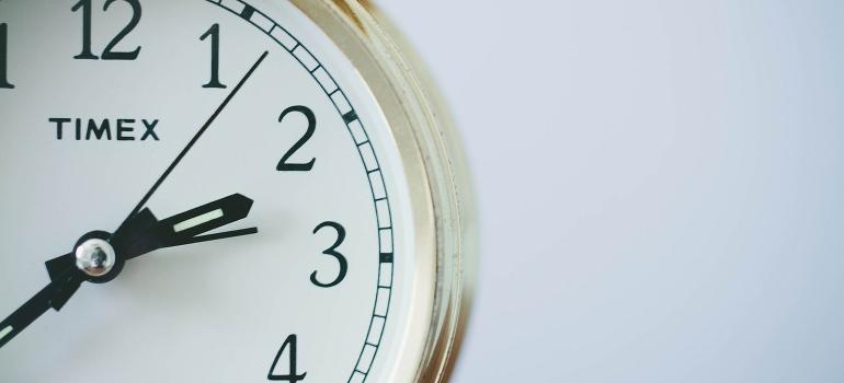 an analog clock closeup