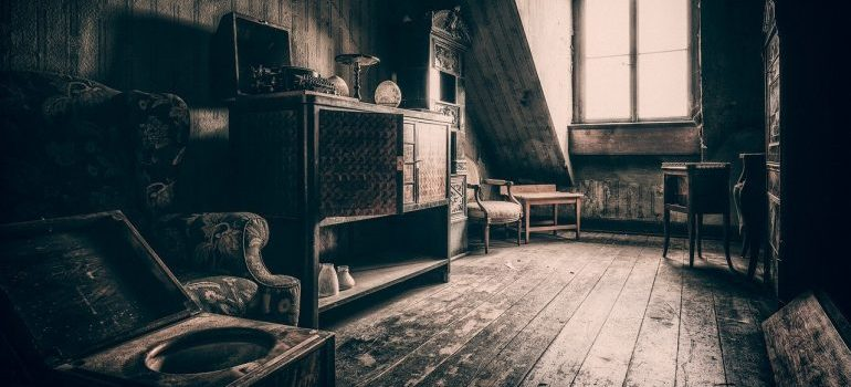A room for of items you shouldn't store in your attic.