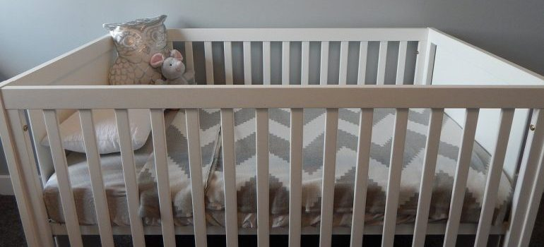 A crib to adjust when you baby-proof your new home.