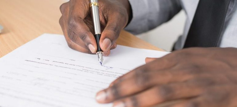 person signing the document