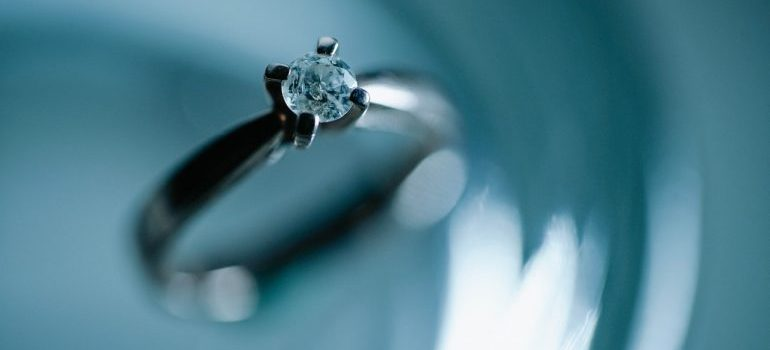 An expensive ring that's on the list of the items you shouldn't store in your garage.