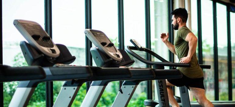 rental apartment amenities - a gym