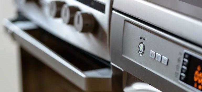 A close-up of a Modern kitchen appliances