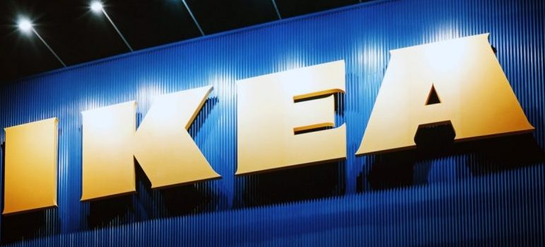 """billboard with the """"IKEA"""" sign"""