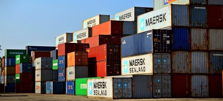 Large containers used to save money on shipping