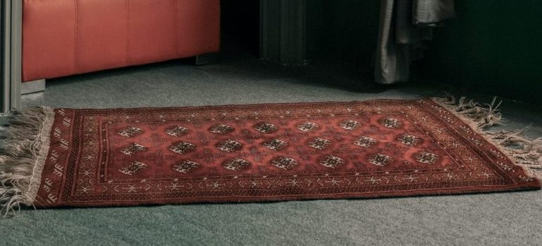 a beautiful red rug