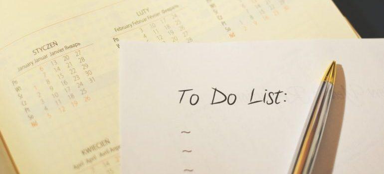 a to do list