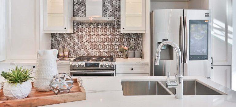 a spotless kitchen